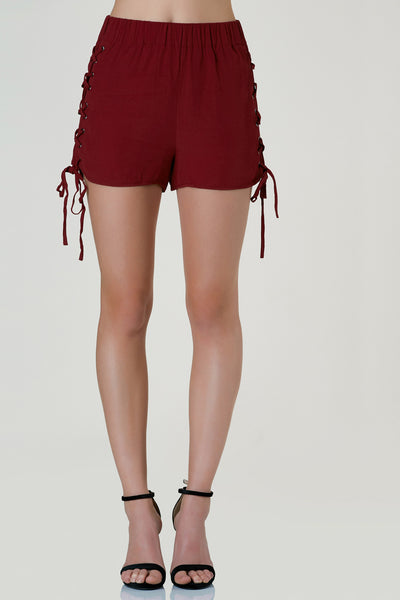 By Your Side Lace Up Shorts