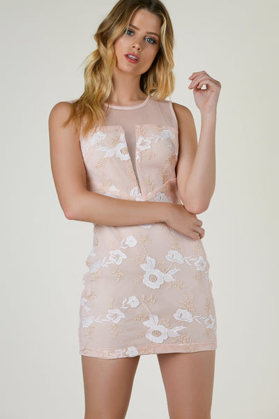 All Floral Spring Embroidered Dress