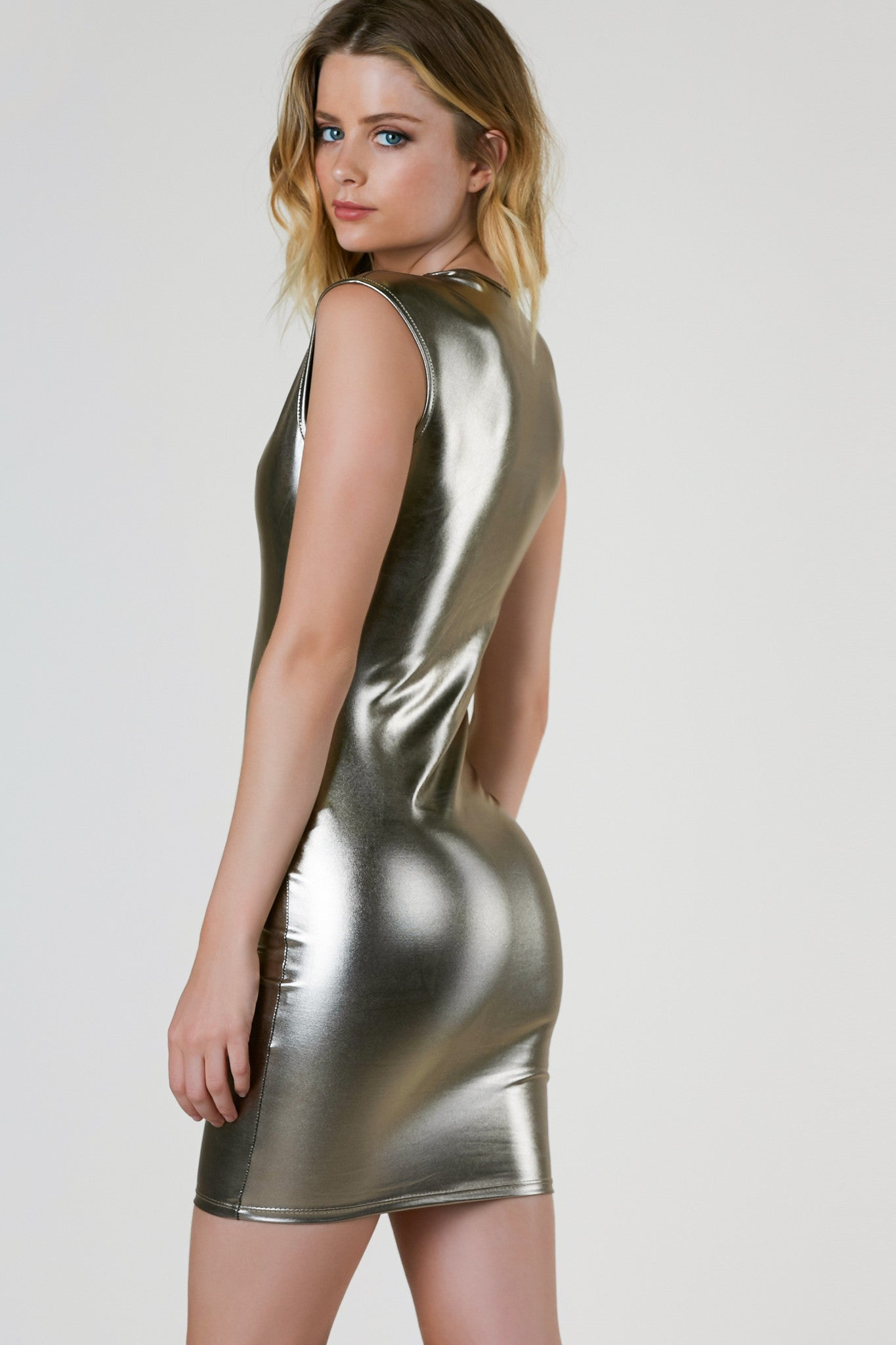 Can't Be Foiled Mini Dress