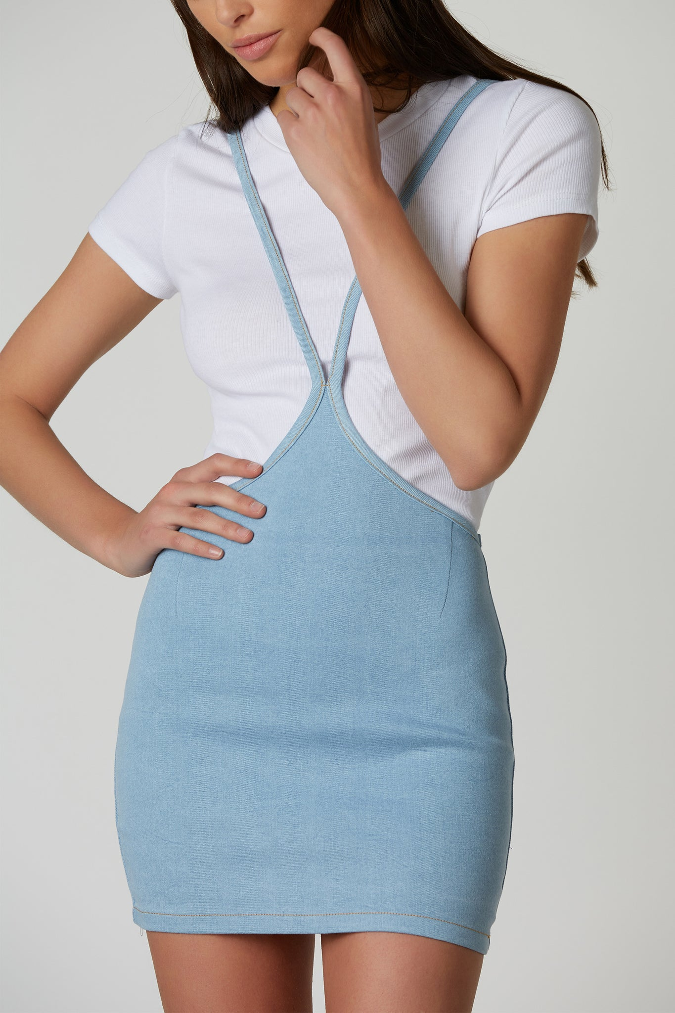 Dreamy Love Denim Overall Skirt