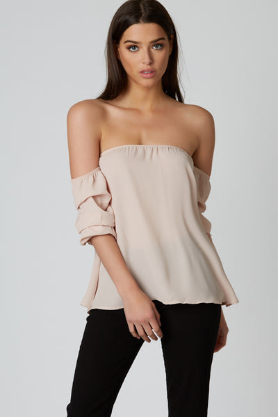 Ruffle Me Up Off Shoulder Top