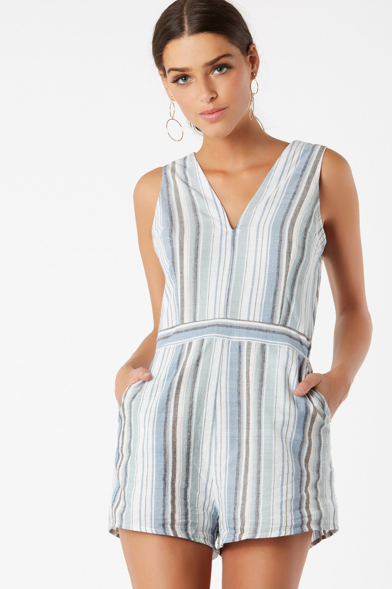 Stripe Now Romper
