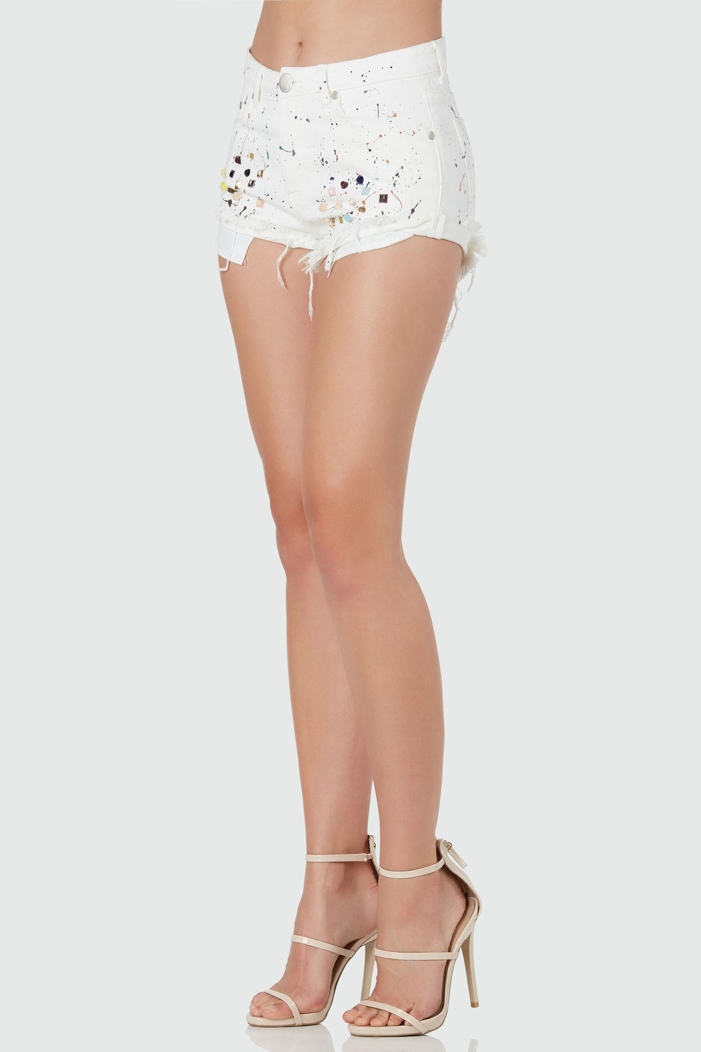 Paint A Picture Studded Shorts