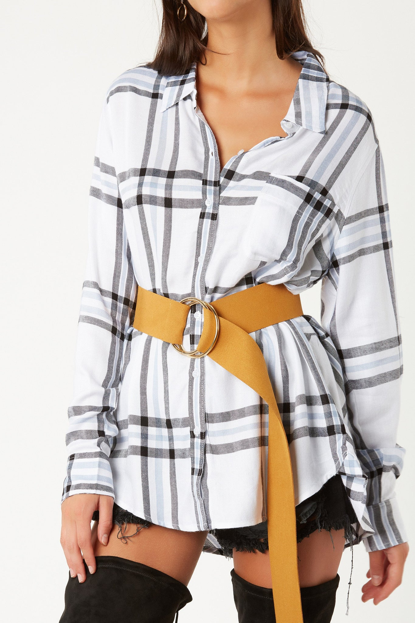 Plaid Influence Button Down