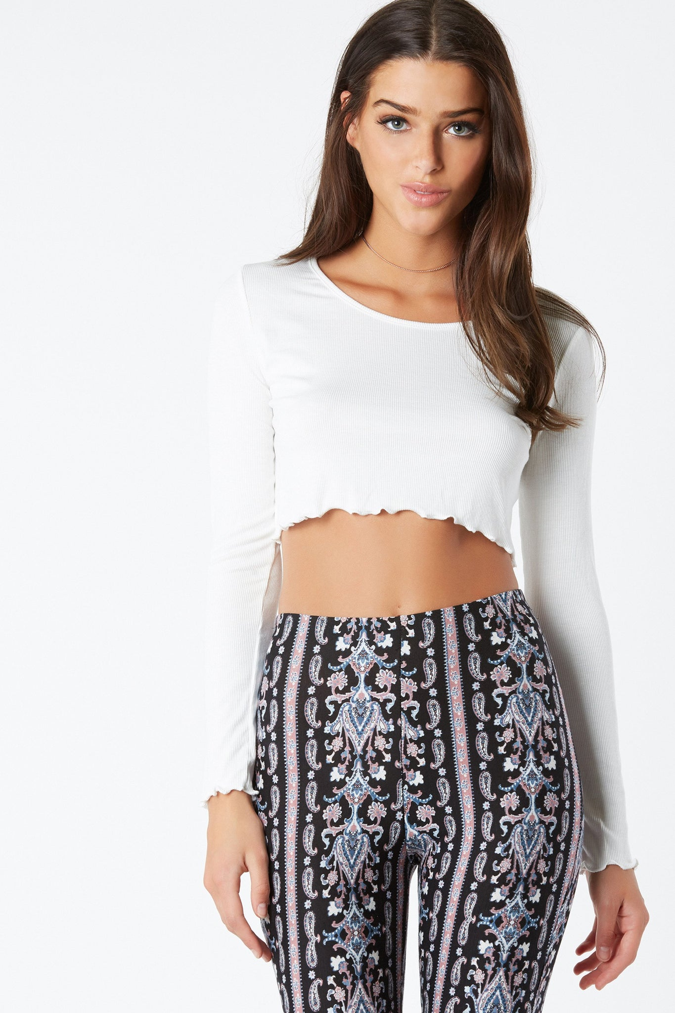 Short Ribbed Crop Top