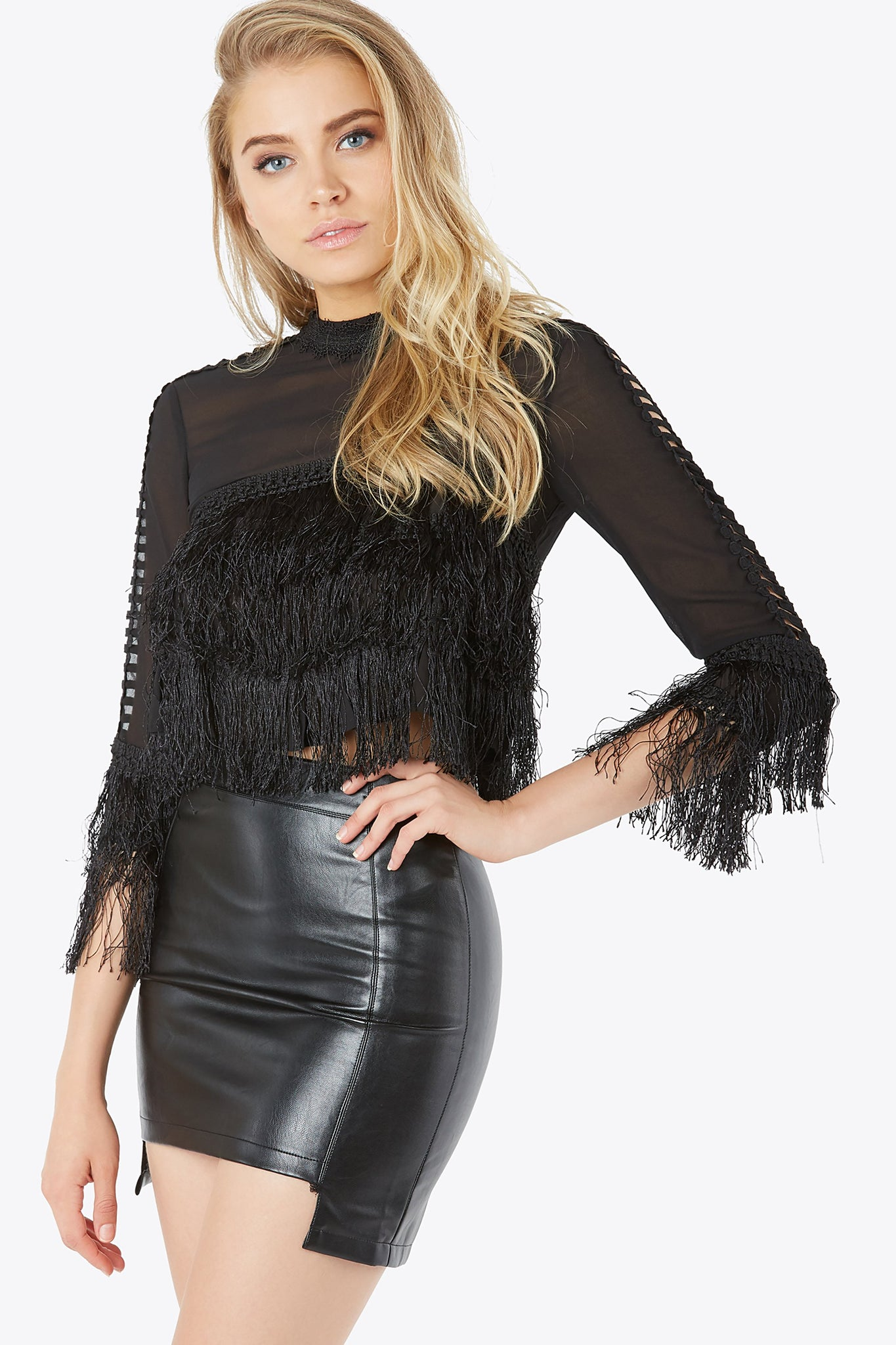 Sheer Madness Fringe Top
