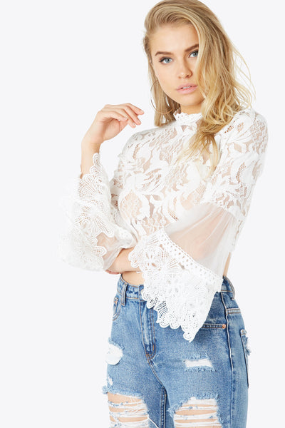 Lace Start Over Top