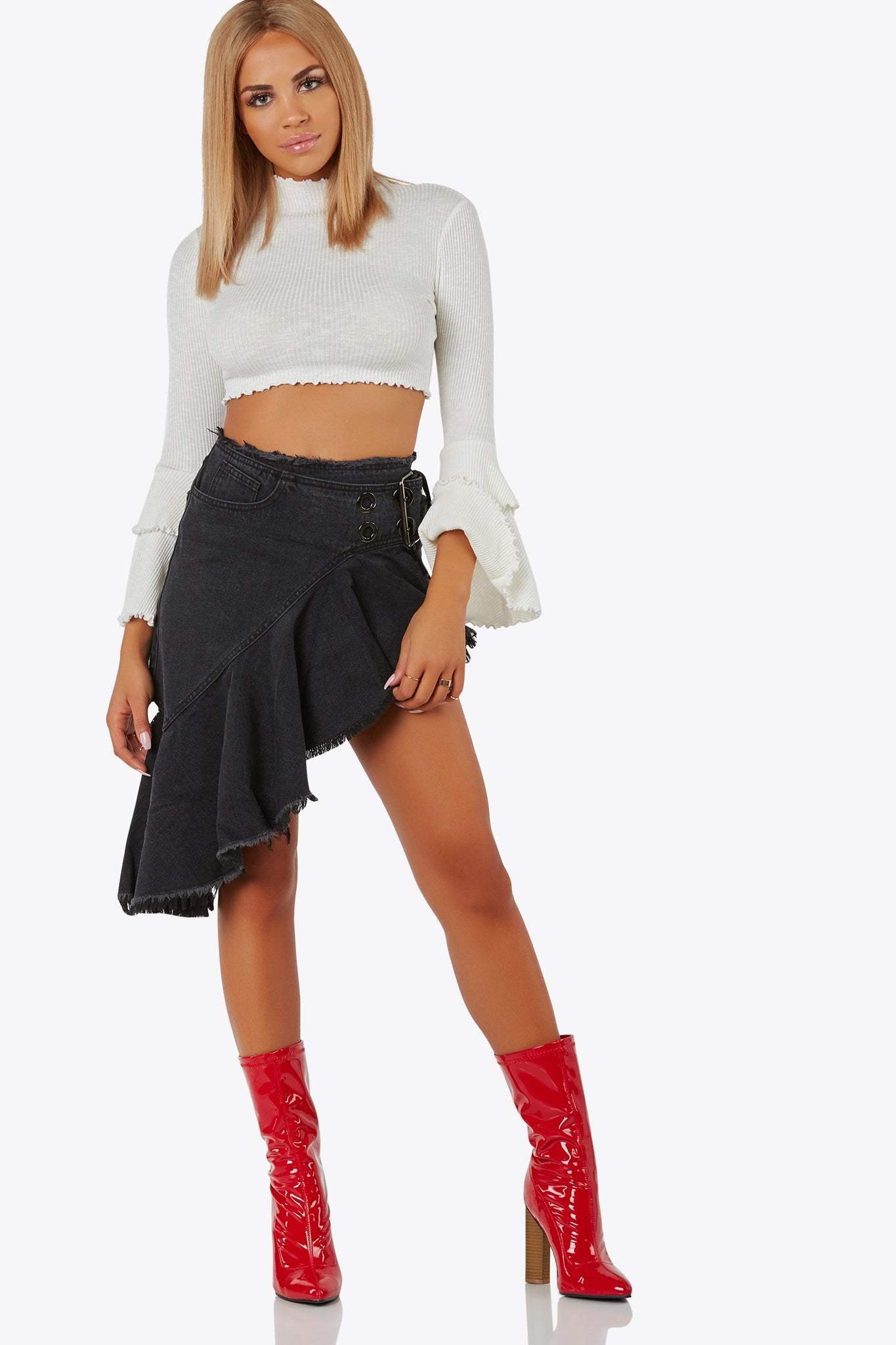 Flip Side Denim Skirt