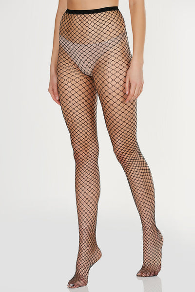 Trendy full length fishnet stocking with comfortable stretch for fit.