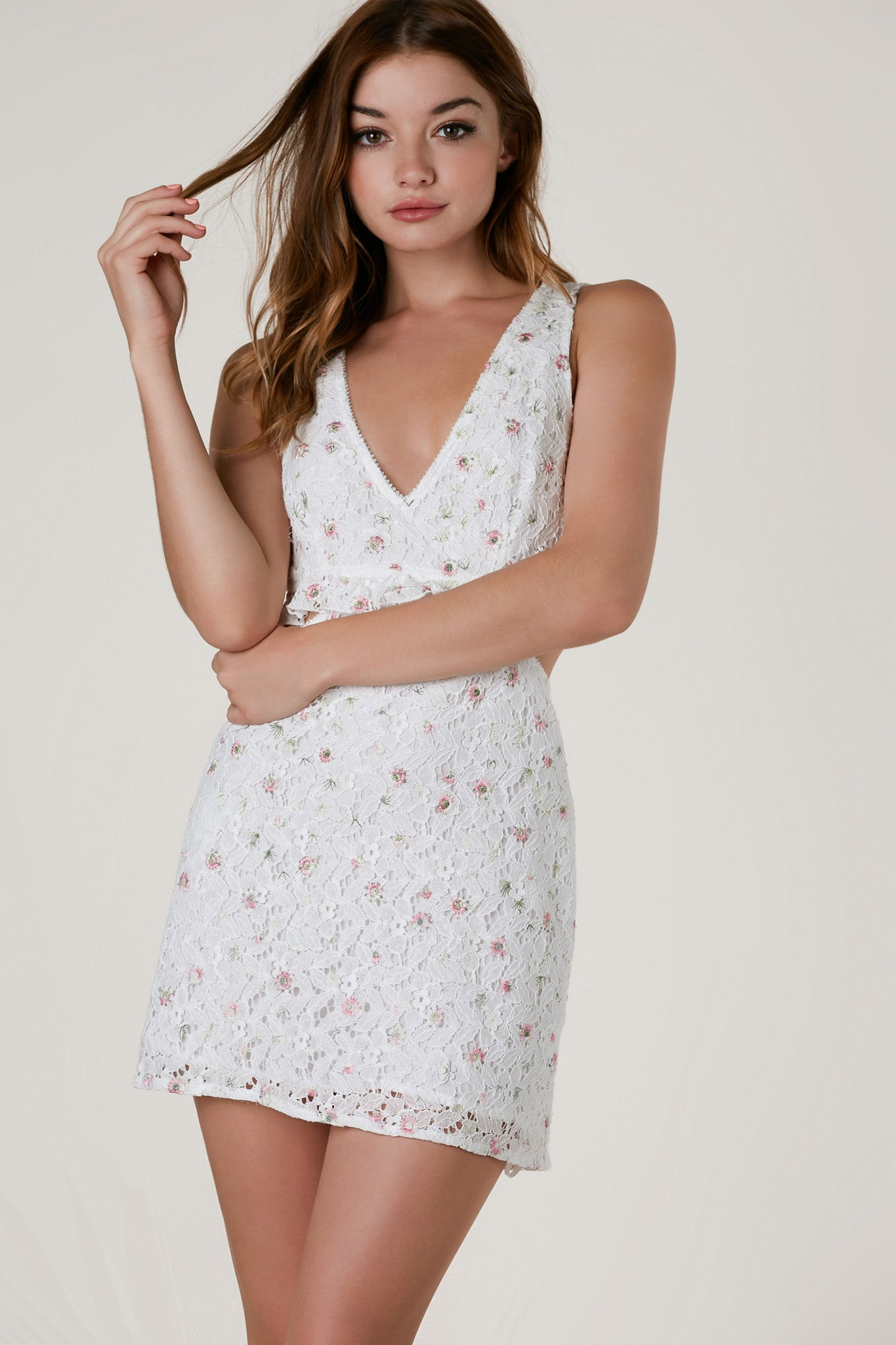 Fleur Cut Out Mini Dress