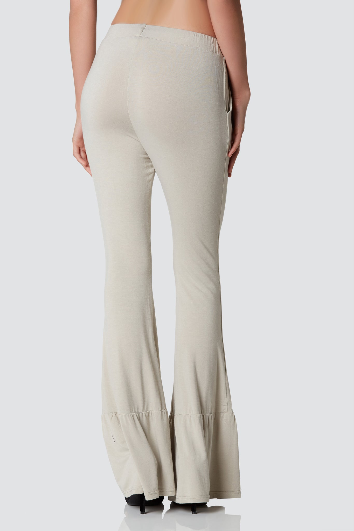 Soft drawstring bell bottoms with side pockets and comfortable stretch.
