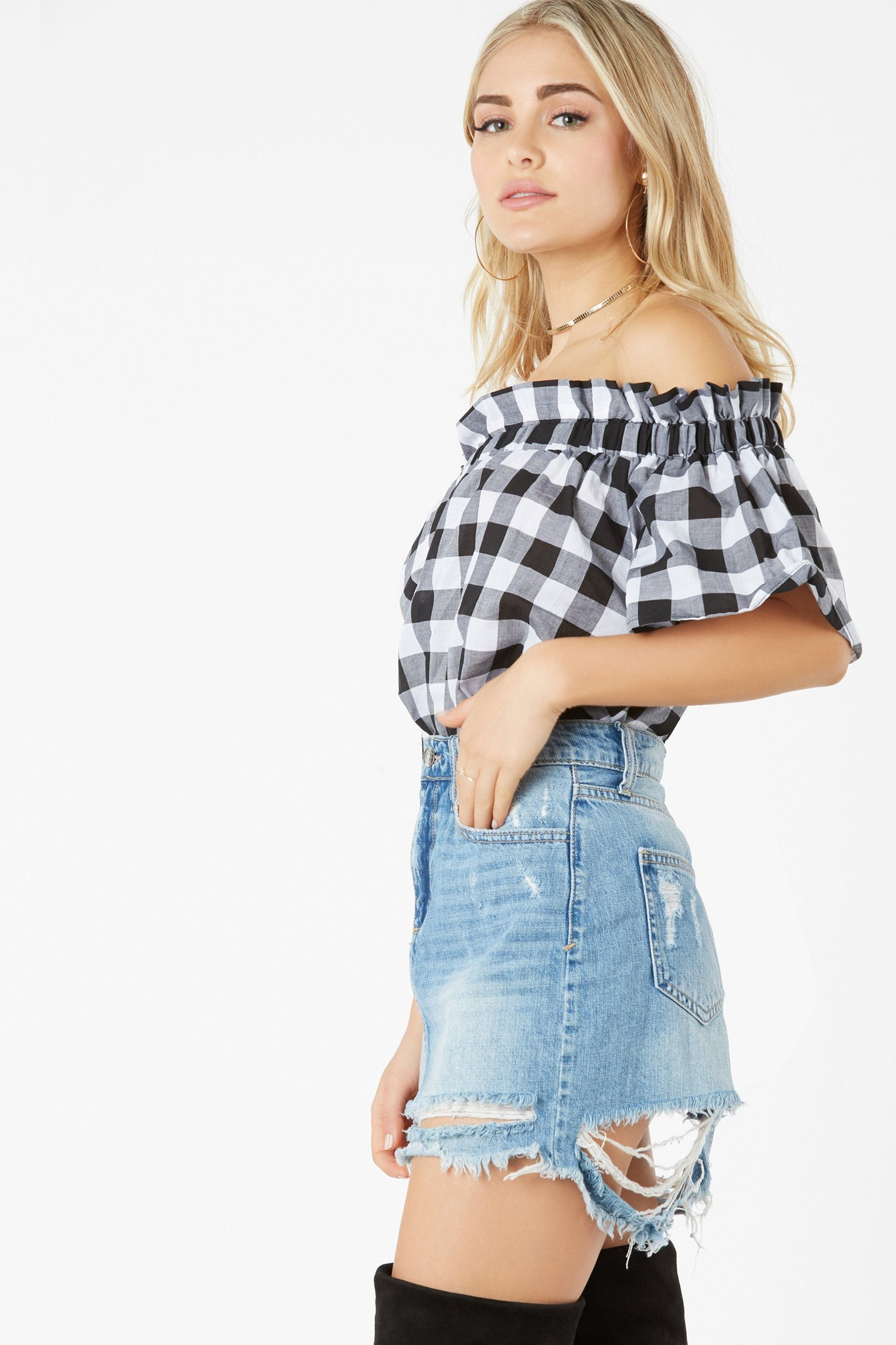 Rain Check Off Shoulder Top | Necessary Clothing