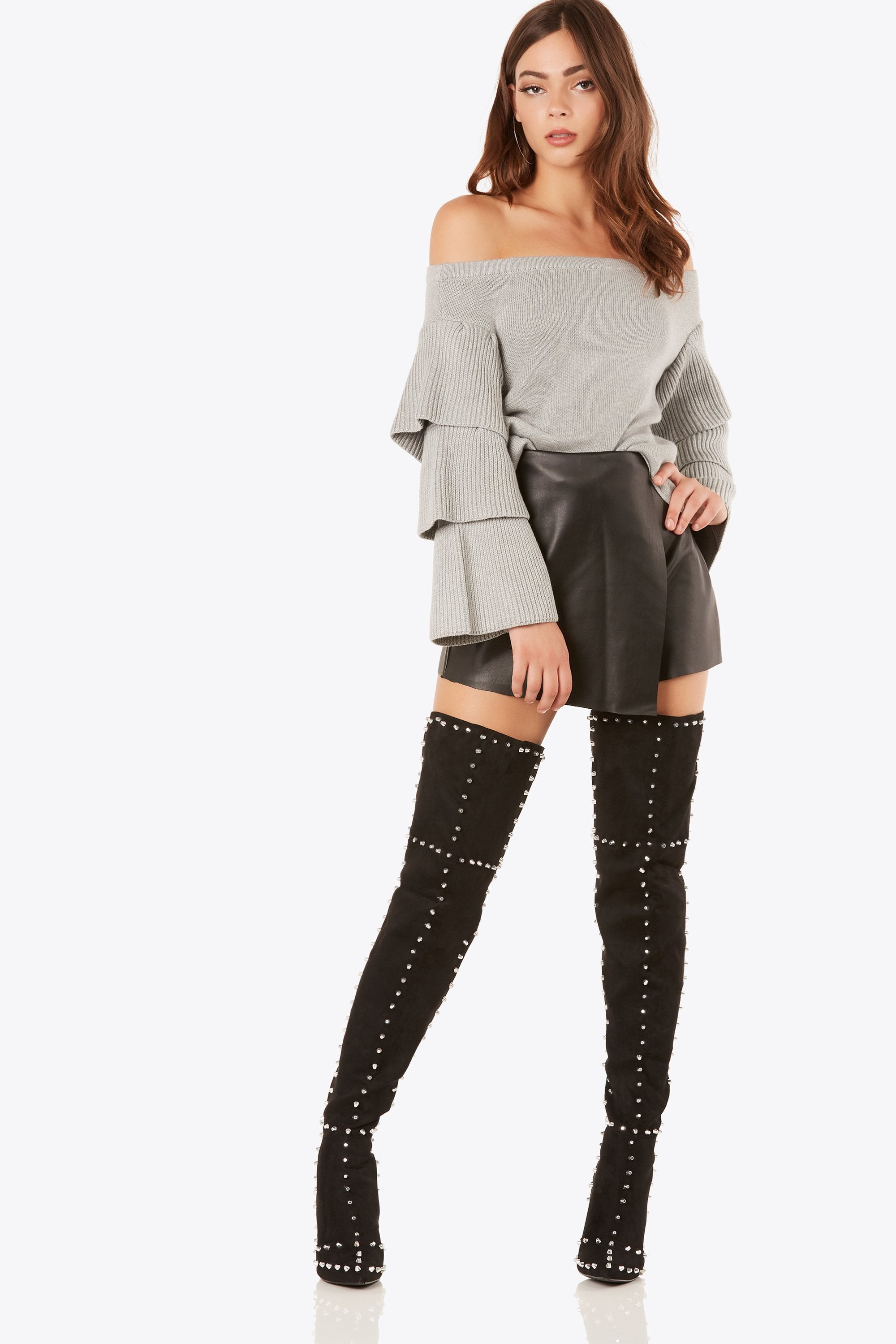 Stud Muffin Thigh High Boots