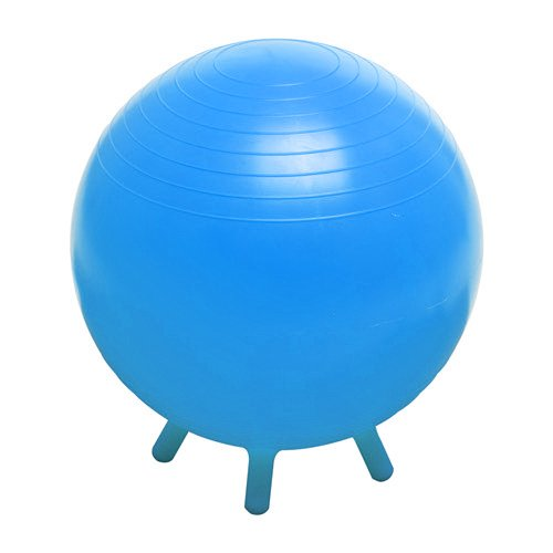 Champion Barbell Stability Ball with Feet, Light Blue