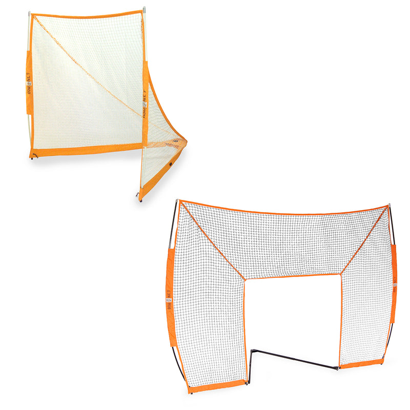 BUNDLE PACK - Bownet Lacrosse Goal with Halo Barrier