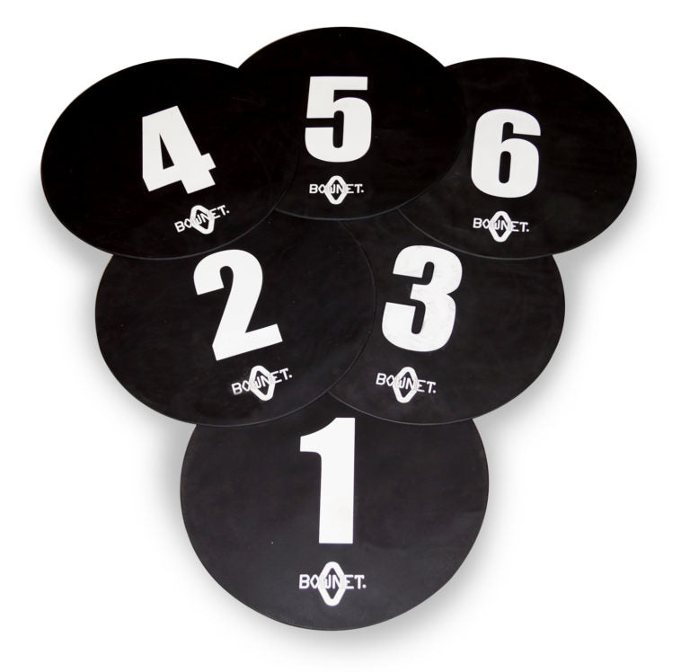 Bownet Volleyball Floor Targets (6 Pack)