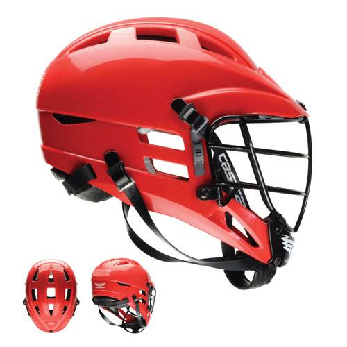 Cascade CS Youth Lacrosse Helmet, Red