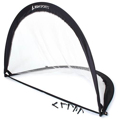 "Athletic Connection 72"" Pop Up Soccer Goal, Black (2 Pack)"