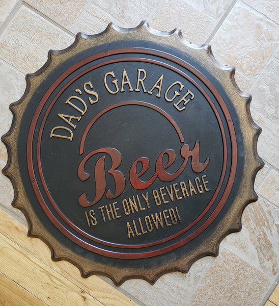 Dad's Garage Beer Cap Doormat