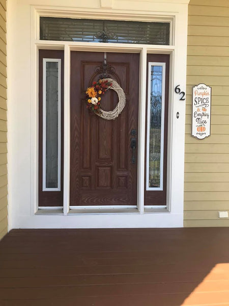 Pumpkin Spice & Everything Nice Embossed Sign
