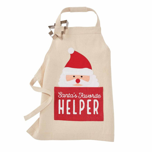 Kid's Holiday Apron with Cookie Cutter