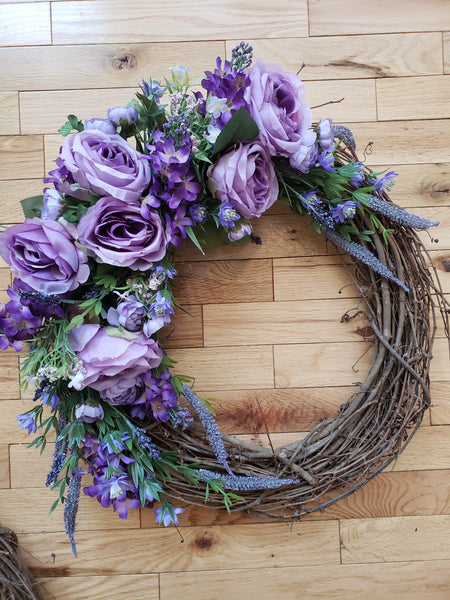 Purple Fields Wreath