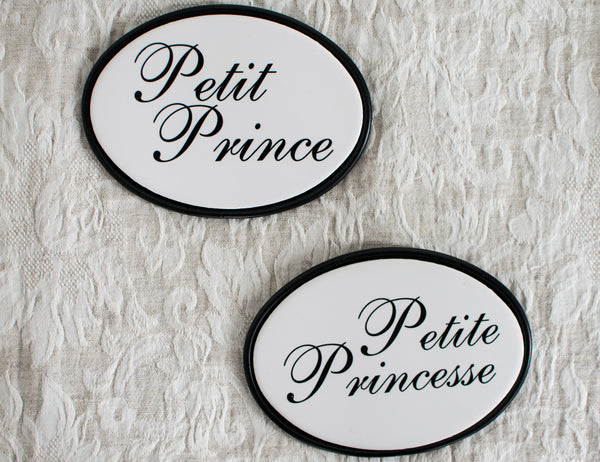 Petit Prince / Petite Princesse Bedroom Door Sign