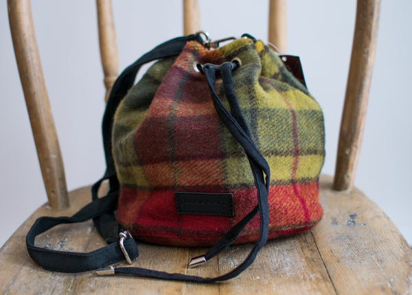 Scottish Tartan Bucket Bag