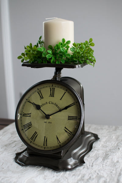 Antique Inspired Scale Clock