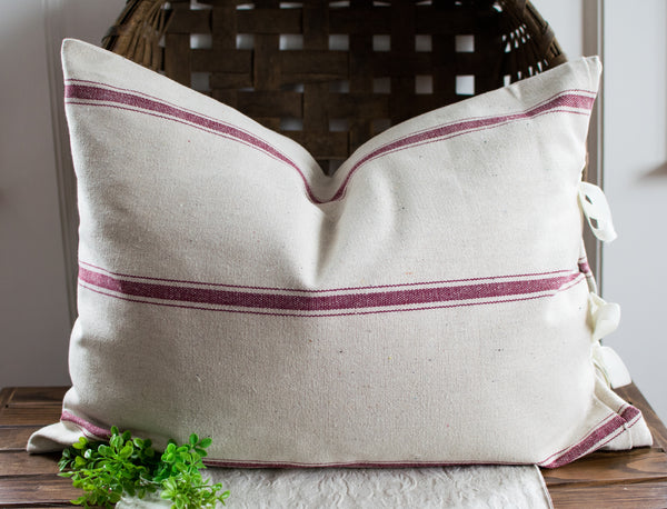 French Grain Sack Style Pillow Slip