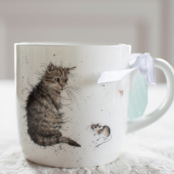 Cat & Mouse Bone China Wrendale Mug