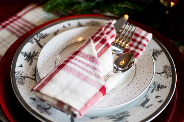 Peppermint Plaid Napkins