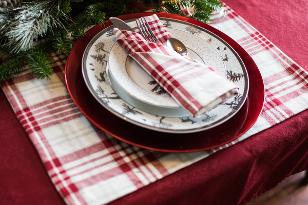 Peppermint Plaid Placemats (Set of 4)