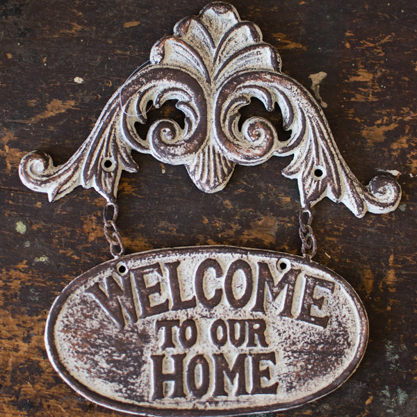 Welcome to Our Home Wall Plaque