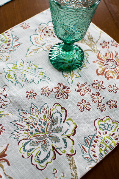 The Rylie - Blue Floral Fabric Placemat
