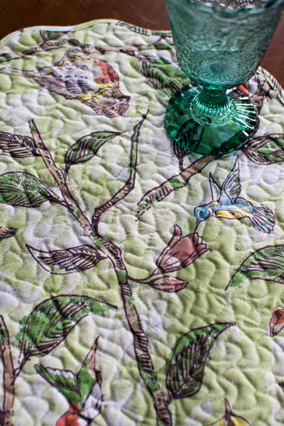 Bird Song Quilted Placemat