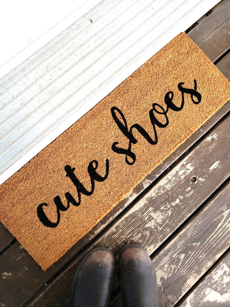 Cute Shoes Skinny Doormat