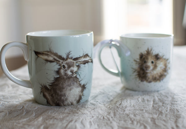 Hare Brained 14oz Bone China Mug - Wrendale