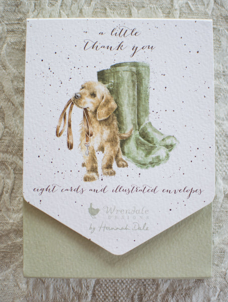 """A Little Thank You"" Set of 8 Cards - Wrendale"