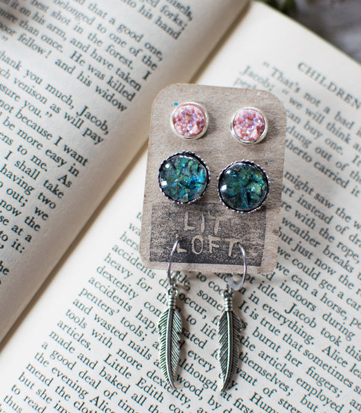 Sparkling Earrings 3-Pack - Lit Loft