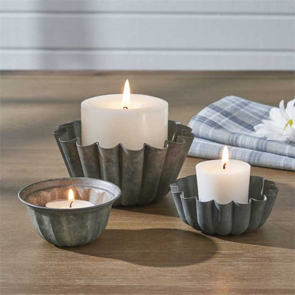 Dessert Mold Candle Holders (Set of 3)