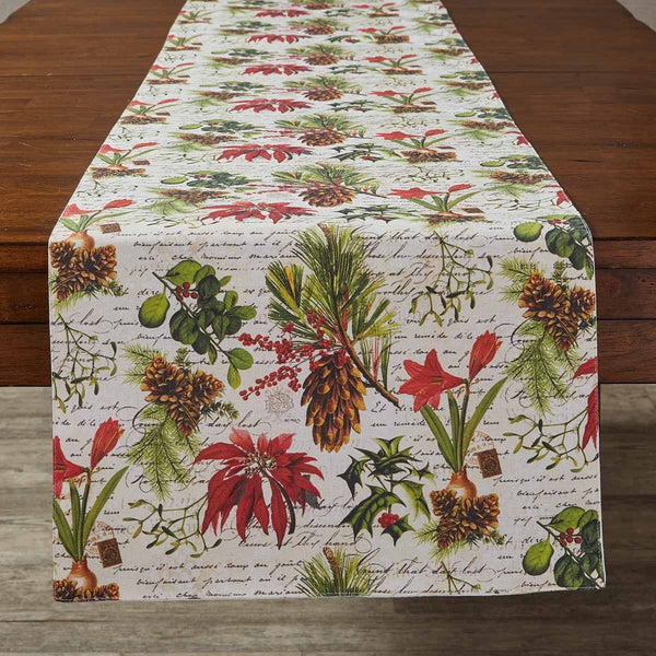 Winter Botanic Table Runner