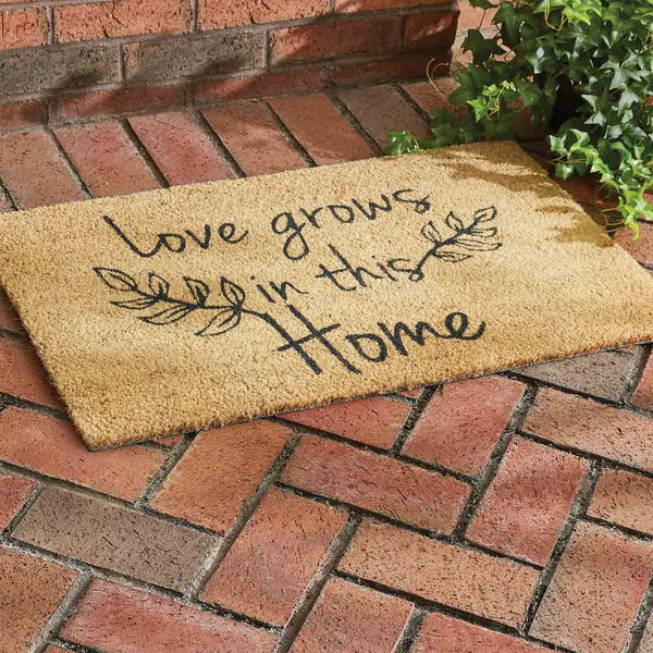 Love Grows in this Home Doormat