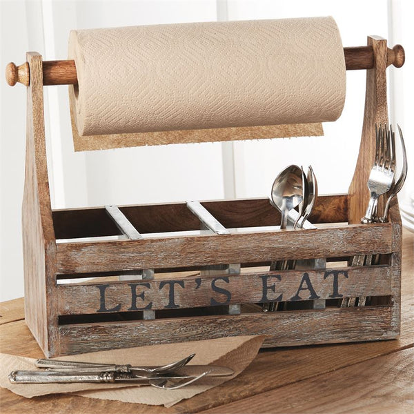 Let's Eat! Paper Towel Caddy