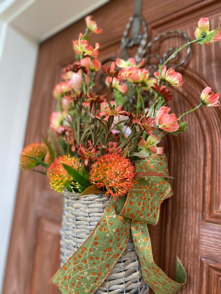 Floral Willow Basket