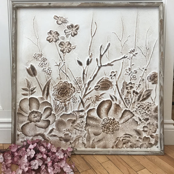 Country Garden Embossed Wall Art