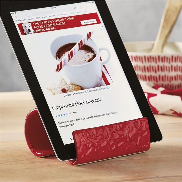 Festive Red Phone/iPad Stand