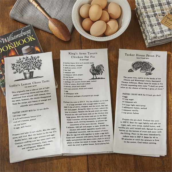 Flour Sack Recipe Dishtowels