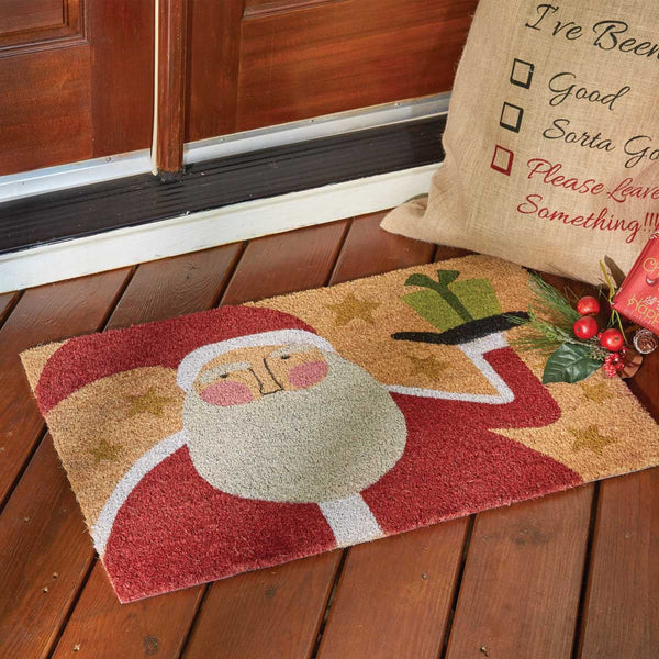 Snow Friends Santa Doormat