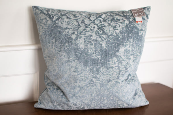 Crushed Velvet Patterned Accent Pillow